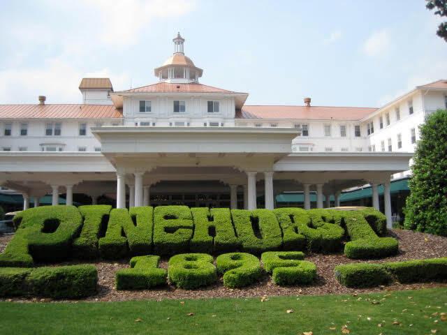 Pinerhurst Entry Shrubs Golf Vacation