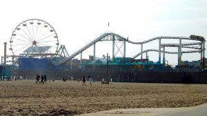 Photo of the Santa Monica Pier, the end of route 66 and part of a California Roadtrip