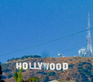 The hollywood sign is landmark where many movies are filmed